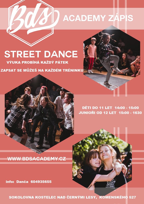 Street dance , BDS Academy Zápis